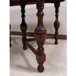 Image of Vintage Tudor Painted Top Dining Table
