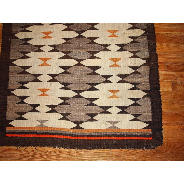 1880s Hand Made Antique American-Indian Navajo Rug