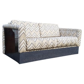 Milo Baughman Chrome Base and Side Sofa