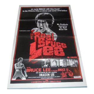 """1973 """"The Real Bruce Lee"""" Authentic Movie Poster"""