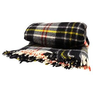 Irish Plaid Wool Blanket