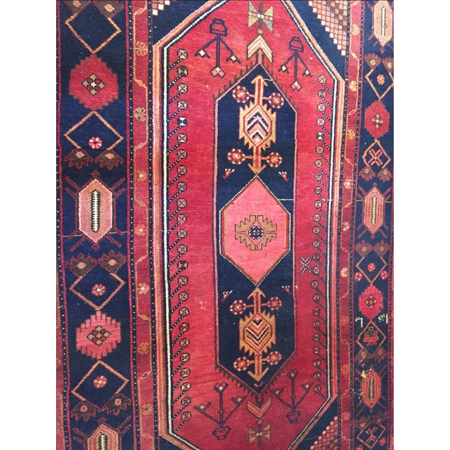 """Vintage Hand Knotted Turkish Rug - 4'11"""" x 8'11"""" - Image 2 of 10"""