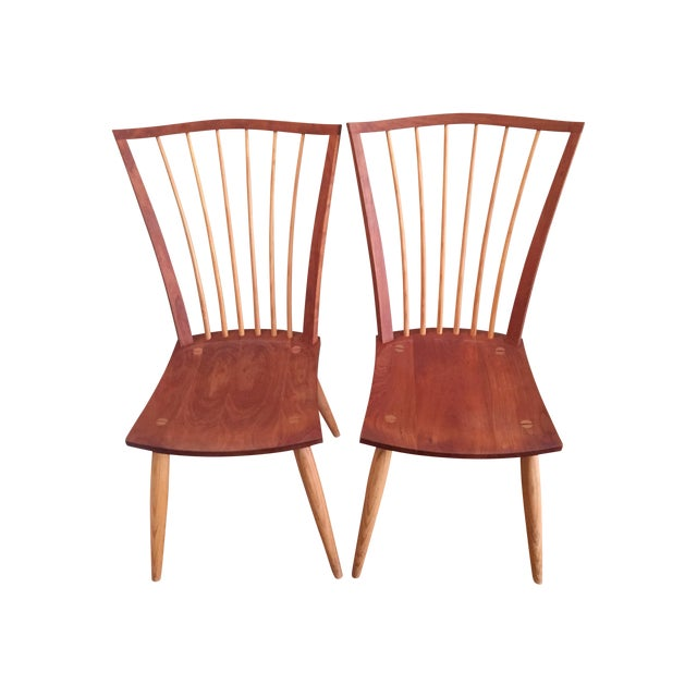 Image of Thomas Moser Catena Arm Chairs - A Pair