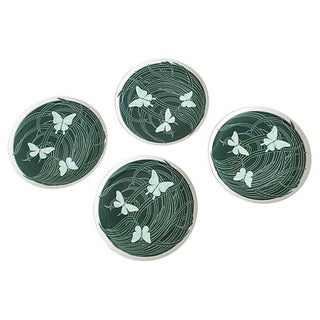 1980s Butterfly Neiman Marcus Plates - Set of 4