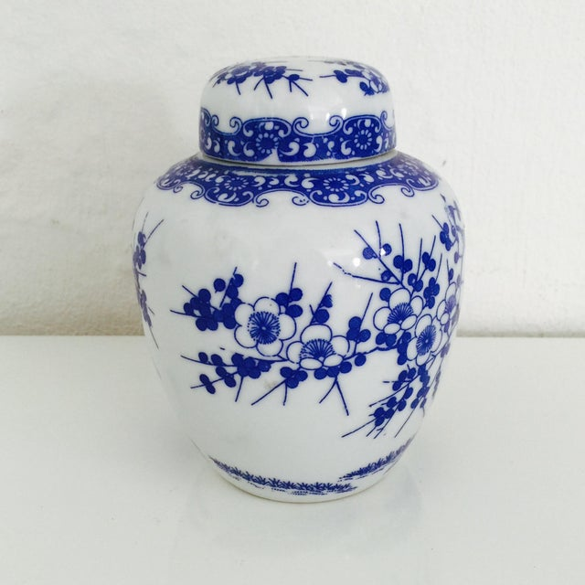 Mini Chinoiserie Blue & White Ginger Jar - Image 4 of 7