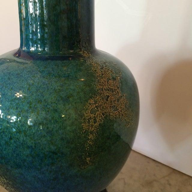 Turquoise Mid-Century Modern Vase Table Lamp - Image 3 of 5