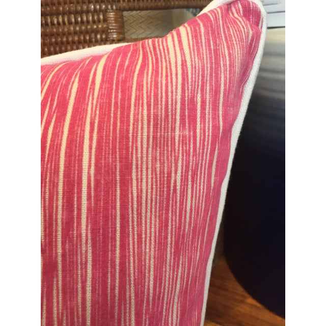Down Pink Striped Pillows - A Pair - Image 5 of 5