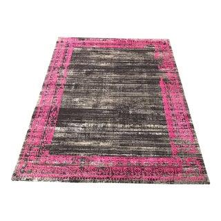 Black & Pink Transitional Rug - 5' x 8'
