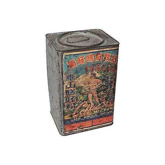 Tarzan Coffee Tin With Graphics, 1920s - Image 2 of 5