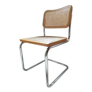 Vintage Marcel Breuer Style Chrome & Cane Chair