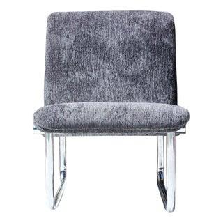 Mid-Century Chrome Tubular Lounge Chair
