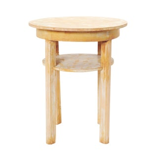 Round Wooden Accent Table