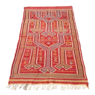 Vintage Turkish Kilim Rug - 3′4″ × 5′5″