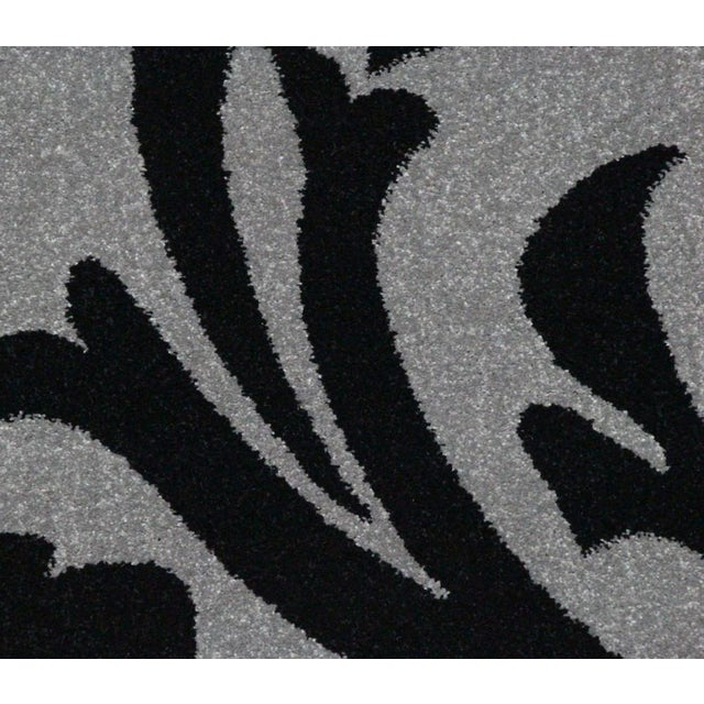 "Transitional Floral Gray & Black Rug - 5'3"" x 7'7"" - Image 3 of 6"