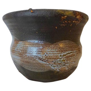 Handmade Semi Glazed Rey Clay Vase/Cup