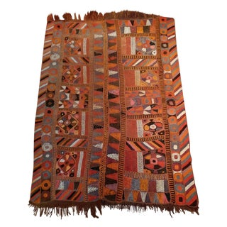 "Boho Chic Abstract Rug from India - 5'1"" X 8'"