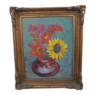 Impressionistic Stargazers & Sunflower Still Life Painting