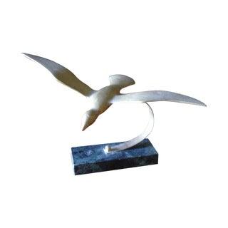 Vintage Brass Bird on Marble Base