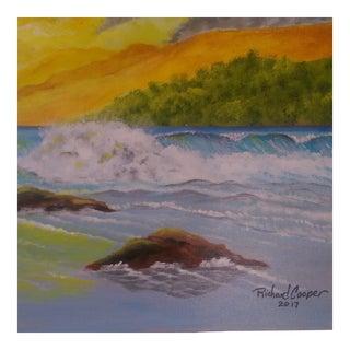 "Acrylic on Canvas Painting ""Sunset"""