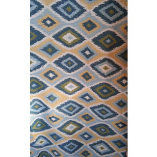 Duralee Aquamarine Ikat Fabric - 5 Yards