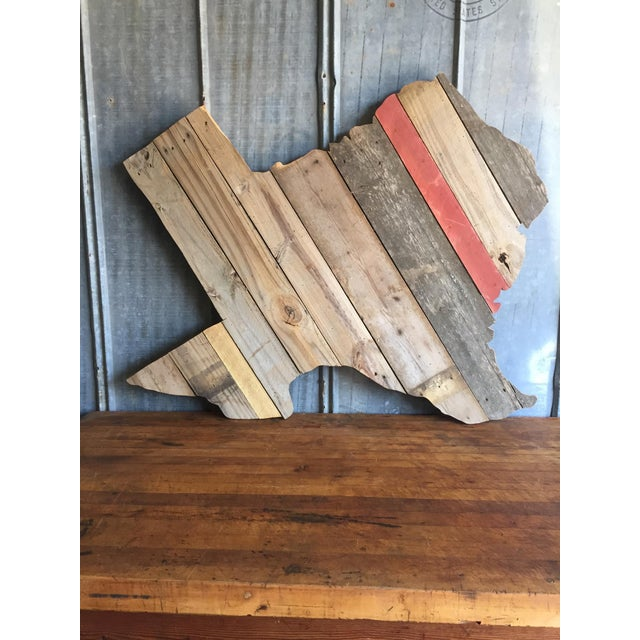Reclaimed Barn Wood Texas Sign - Image 5 of 7