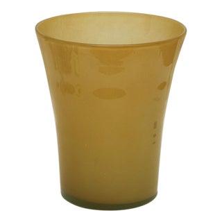 Italian Olive Glass Vase