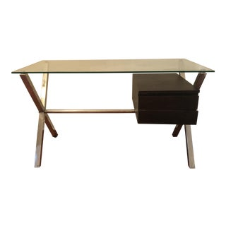 Glass Desk In Style of Franco Albini Knoll