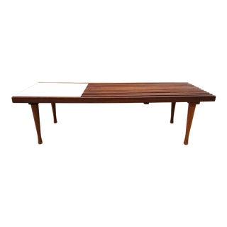 Mid-Century Slat Coffee Table