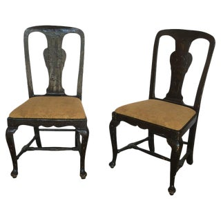 18th C. Lacquered Side Chairs - A Pair