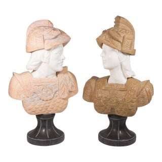 Busts of Roman Soldiers - A Pair