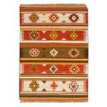 Image of Apadana -Orange & Green 5 x 7 Multicolor Kilim Rug