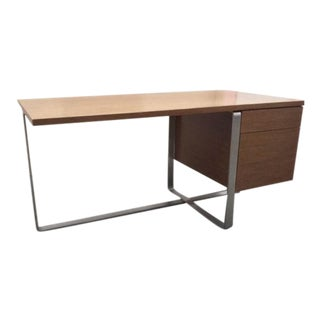 Vintage used brown executive desks chairish for Design within reach desk