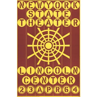 "Robert Indiana ""New York State Theater, Lincoln Center"" 1964 Serigraph"