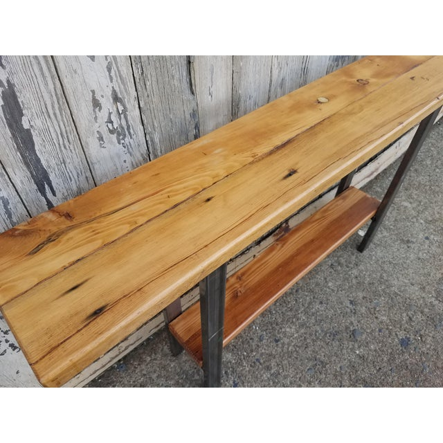 Reclaimed Wood Console Table - Image 6 of 6