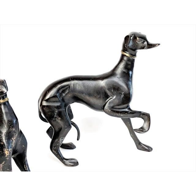 Bronze Greyhound Dog Statues - Set of 3 - Image 4 of 11