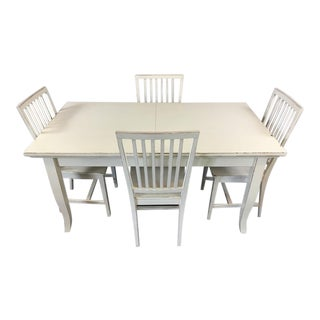 Crate & Barrel Italian White Dining Set