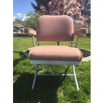 Image of Warren McArthur Pink Upholstered Folding Chair