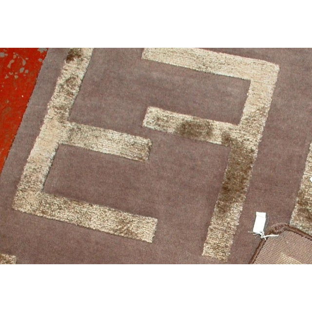 Indian Modern Silk Highlighted Rug- 3' x 5' - Image 5 of 9