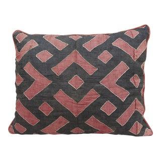 African Chevron & Diamond Kuba Cloth Pillow