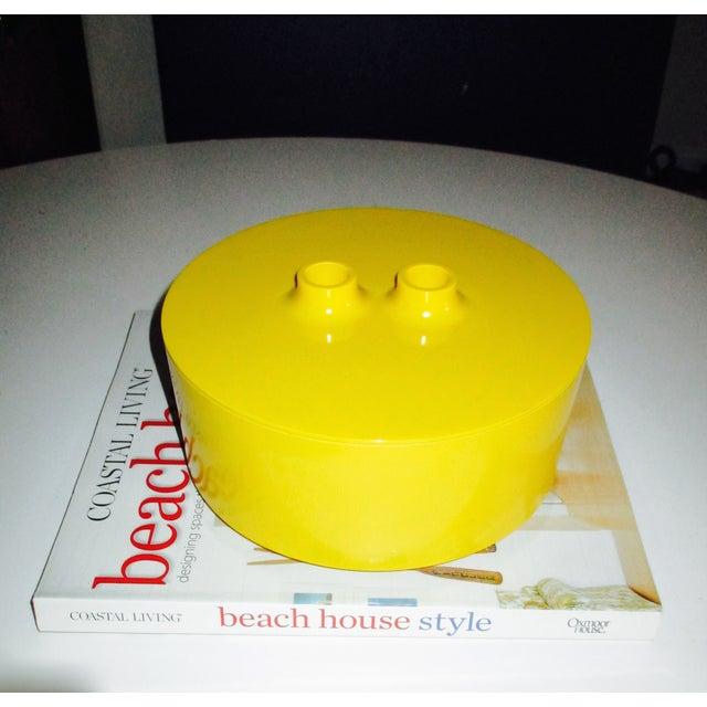 Massimo Vignelli Yellow Melamine Salad Bowl - Image 3 of 11