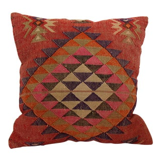 "Kilim Turkish Vintage Pink Pillow Cover - 16"" x 16"""