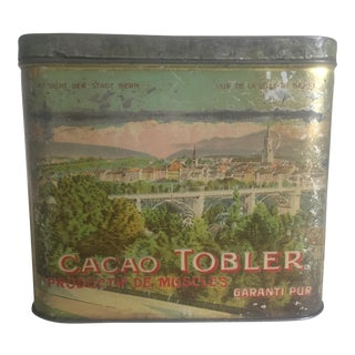 Early 1900s Swiss Cacao Tobler Tin Box