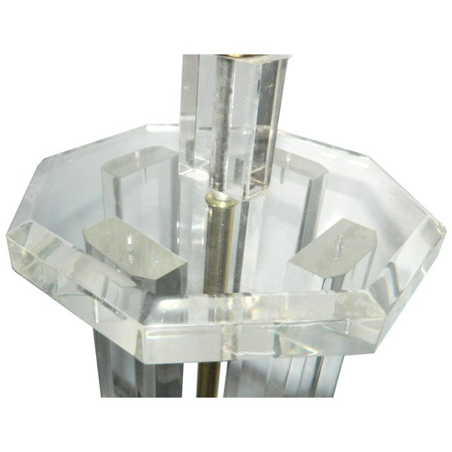 Image of Octogonal Lucite Table Lamp