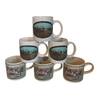 Collection of Equestrian Coffee Cups - Set of 6