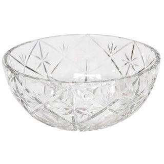 Val Saint Lambert Crystal Cut Bowl