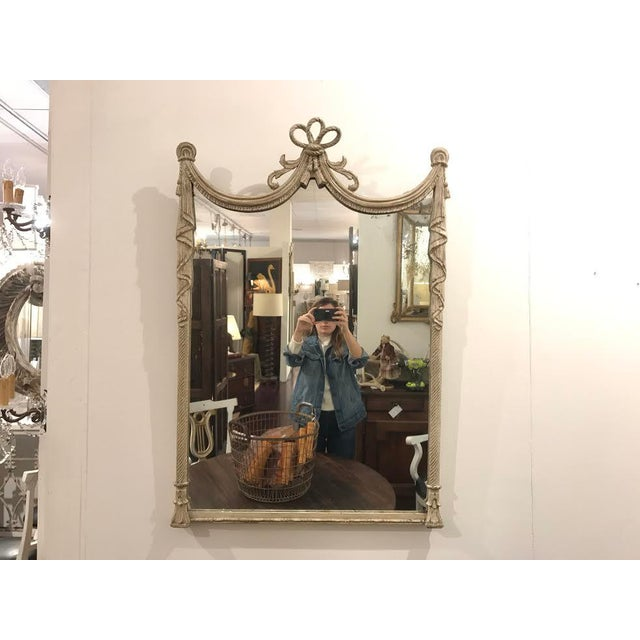 19th Century French Carved Swag and Tassel Mirror - Image 7 of 7