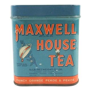 Vintage 1/2 Lb. Maxwell House Orange Pekoe Tea Tin
