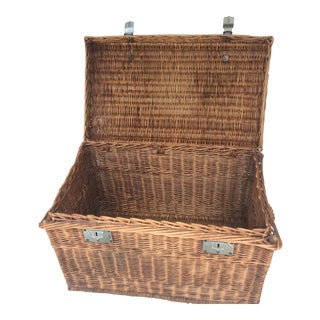 Early 20th Century Large Picnic Basket