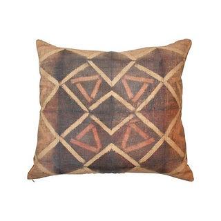 Tie Dye Kuba Raffia Cloth Pillow