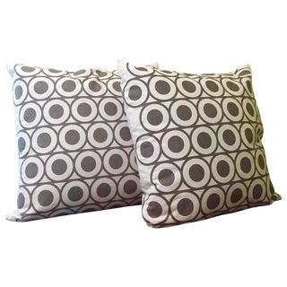 Gray & White Geometric Pillows - A Pair